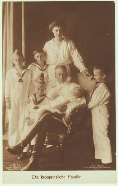 Photo Postcard of Royal Family, Germany, 1915