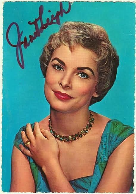 Janet Leigh Autograph. Hand-signed Postcard, CoA