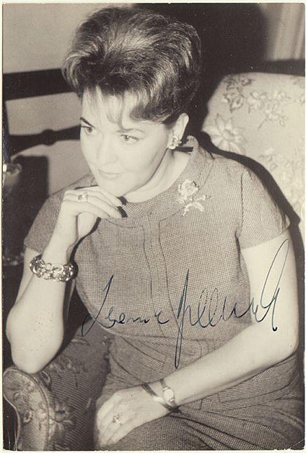 Soprano Leonie Rysanek Autograph. COA included.