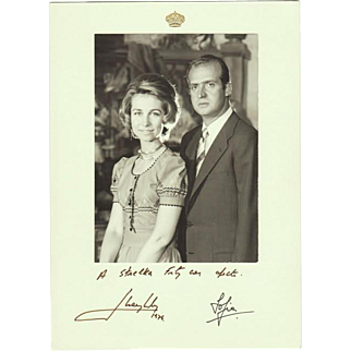 Spanish King and Queen Autographs, 1974
