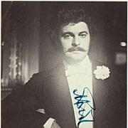 Baritone Bernd Weikl Autograph: Hand signed Photo