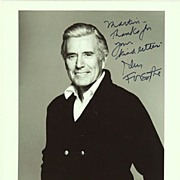 John Forsythe Autograph: Hand signed Photo, 8 x 10, CoA