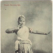 Dancing Girl from Ceylon. Vintage Postcard.