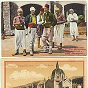 Sarajevo: 3 Vintage Postcards, Ethnic, View of Town