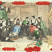 Unique vintage Postcard related to Spinning. 1902