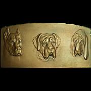 R. Placht Bronze Plaque Three Dogs