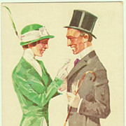Art Deco Postcard by Ludwig Hohlwein. Couple, 1913