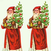 Two old Die Cuts with Santa