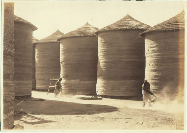 Chinese vintage Photo with after Harvest Scene. 1930s