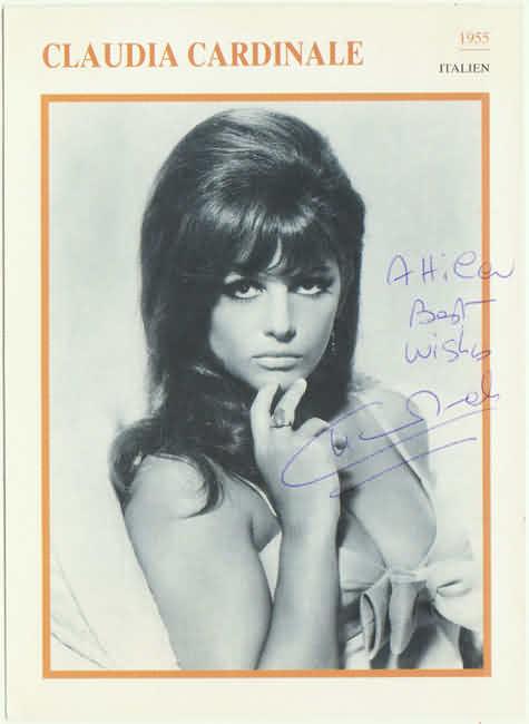 Claudia Cardinale Autograph: Hand signed Print. CoA
