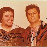 Giuseppe Taddei and Pedro Lavirgen Autographs. CoA