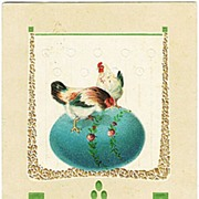 Art Nouveau Easter Postcard, 1909