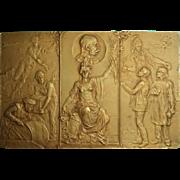 Emperor Franz Joseph Plaque. Bronze