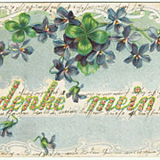 Embossed vintage Postcard Remember Me!