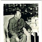 Cultural Revolution China: Authentic Photo Mao in his Library.