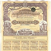 Russian Mining Societe Miniere Joltaia-Rieka Stock Certificate 1899 - Red Tag Sale Item