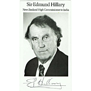 Sir Edmund Hillary Autograph