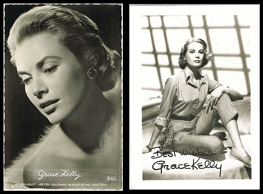 Grace Kelly: Vintage Postcard and Photo Lot