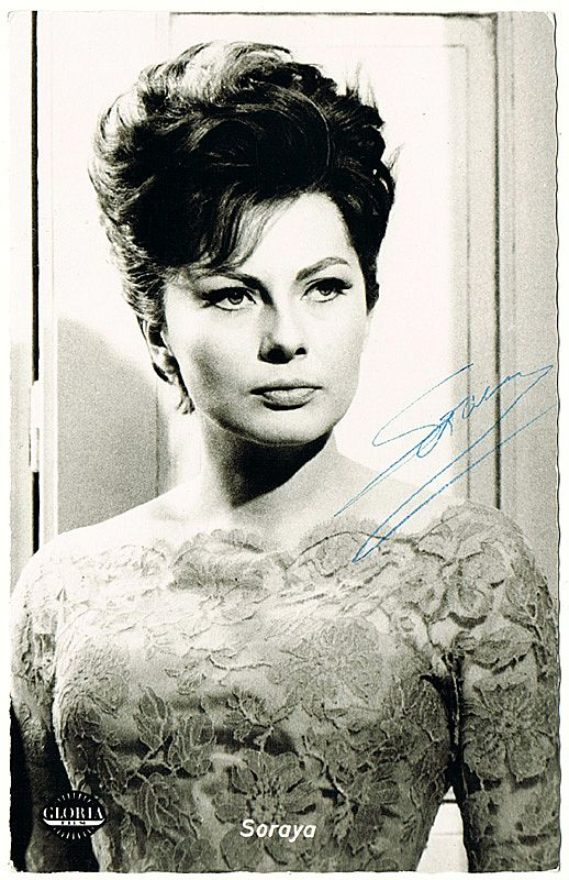 Soraya Autograph, CoA. Persian Princess and Actress
