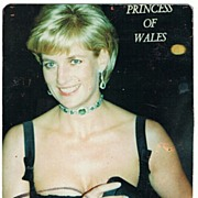 Lady Di Autograph. Diana, Princess of Wales. CoA