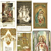 6 Religious Prints for Prayer Books. European