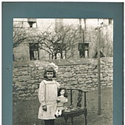 Vintage Photo of a Little Girl with her Doll