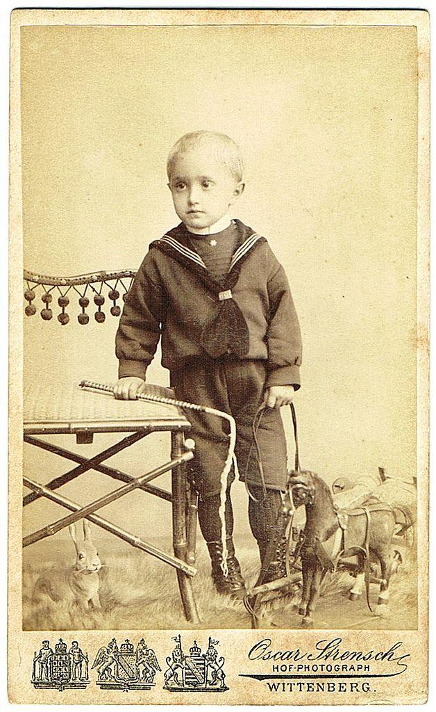 Wilhelm Georg Saxe Altenburg CDV. Heir to the Throne as Baby Boy. 1905