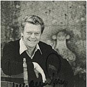 Hermann Prey Autograph 1984. CoA