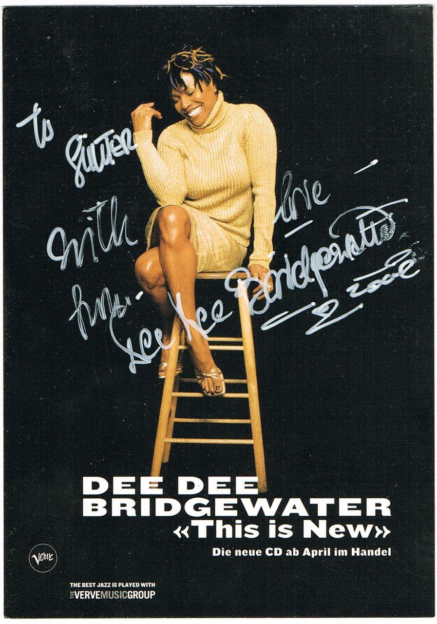 Dee Dee Bridgewater Autograph. CoA