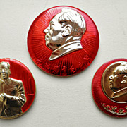 China, Cultural Revolution. 2 Mao Pins.