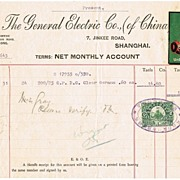 Old General Electric China Receipt