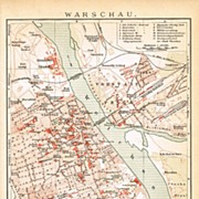 Antique Map of Warsaw, Pre-1900
