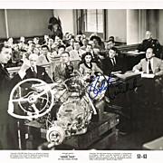 Robert Mitchum Autograph on old Lobby Card. CoA