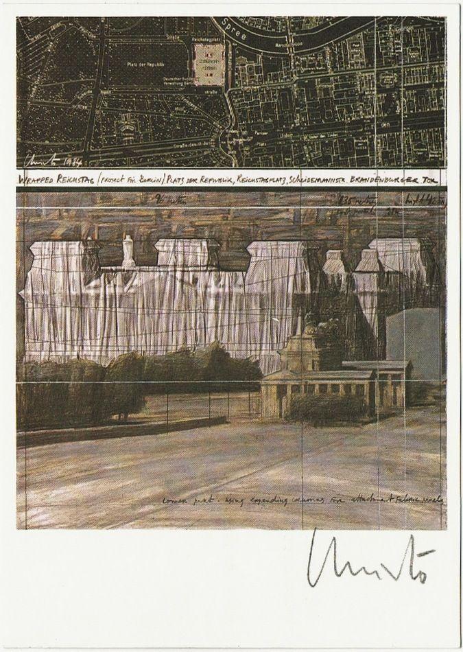 Christo Autograph on Artist Postcard, CoA