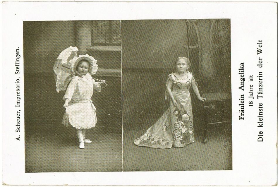 The smallest Dancer in The World, vintage Postcard