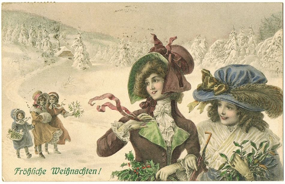 Merry Xmas. Vintage Postcard from 1911
