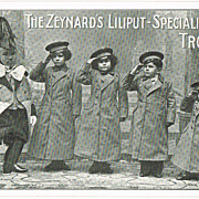 The Zeynards Liliputan Speciality Troupe. Vintage Postcard.