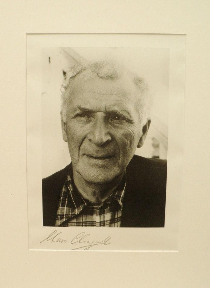 Marc Chagall Autograph: Signed Photo Print. CoA