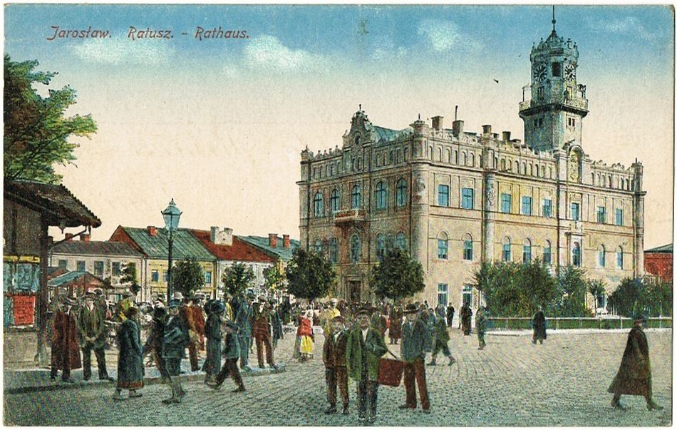 Old Poland, Galicia Jaroslaw Postcard as Field Post