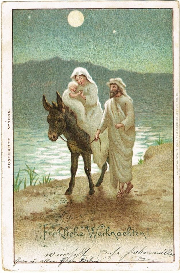 Merry Christmas. The Holy Family. Vintage Postcard 1900 ...