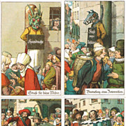 Four Postcard related to old Punishments