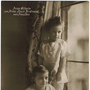 Prince Wilhelm and Prince Louis Ferdinand from Prussia Photo Postcard.