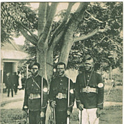 Native Police Men on old Postcard from Africa