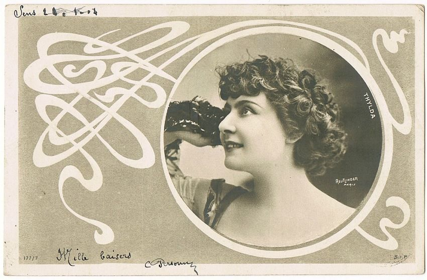 Thlyda. Art Nouveau Postcard, Photo Reutlinger 1904