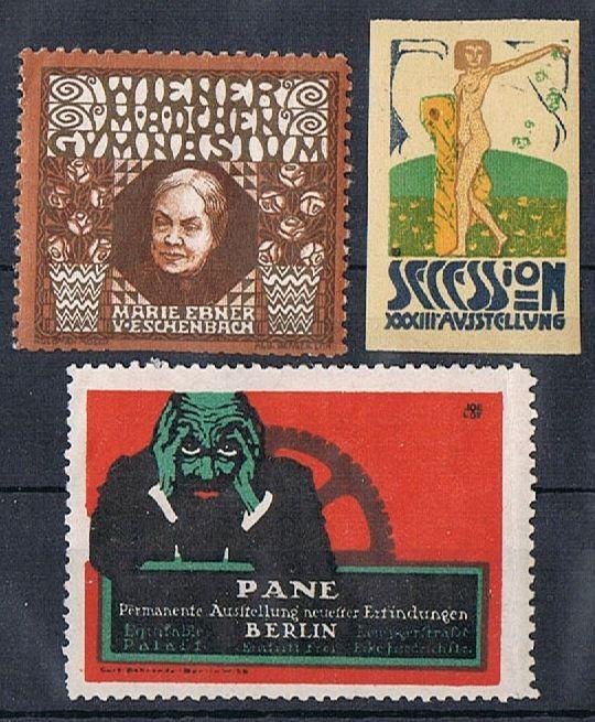 Secession and 2 other Art Nouveau Vignettes