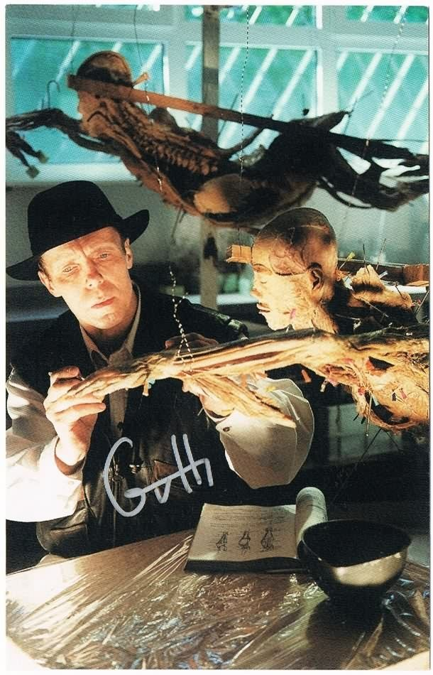 Gunther von Hagens Autograph on Photo. Controversial Anatomist