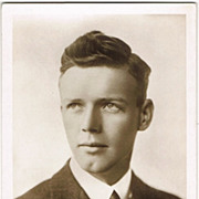 Charles Lindbergh vintage Photo Postcard