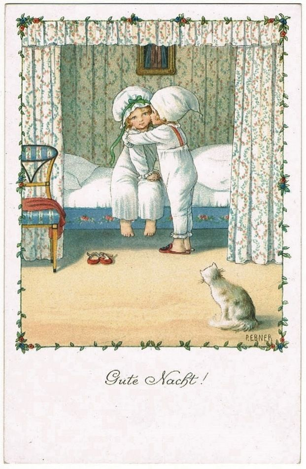 Sweet Darling Postcard by Pauli Ebner