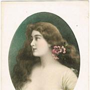 Art Nouveau Postcard of a Beauty