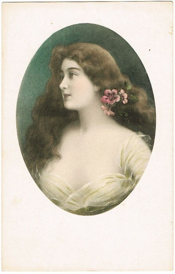 Art Nouveau Postcard of a Beauty